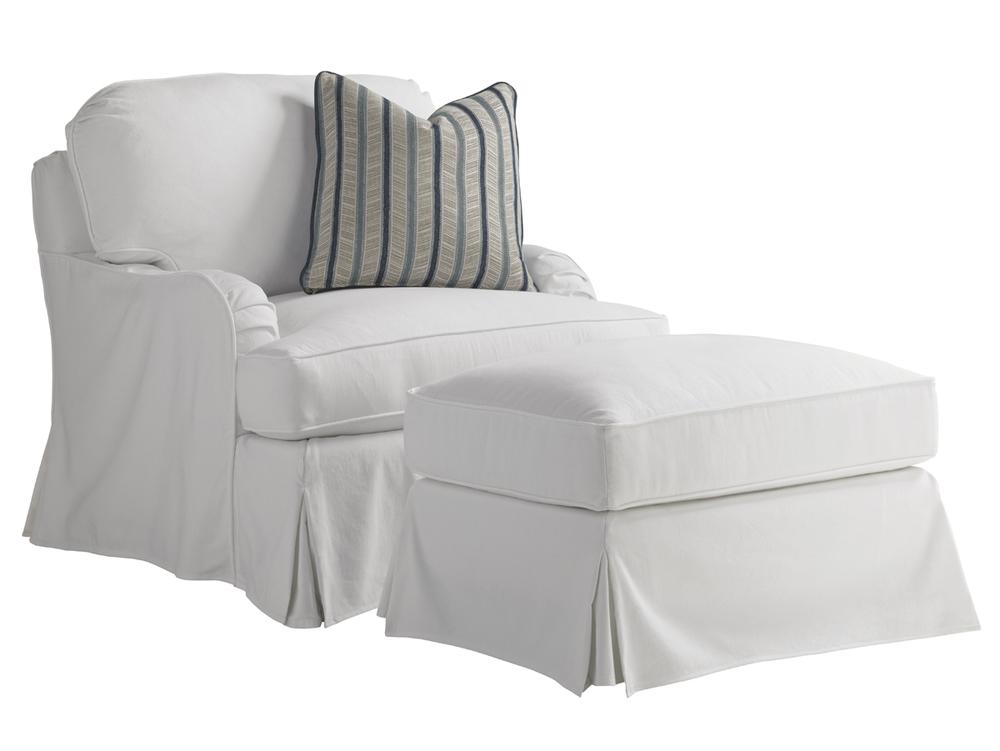 Lexington - Stowe Swivel Slipcover Chair - White