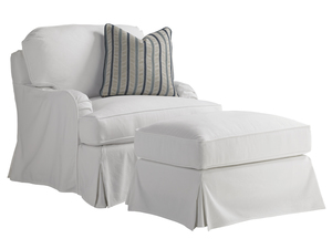 Thumbnail of Lexington - Stowe Swivel Slipcover Chair - White