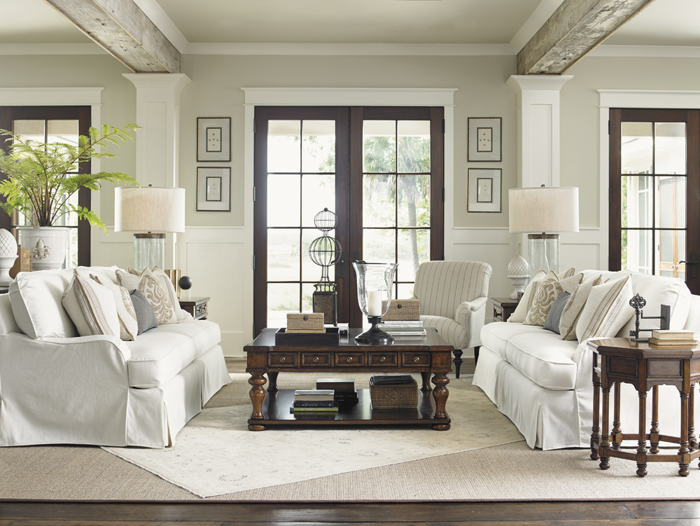 Lexington - Stowe Slipcover Sofa, Cream