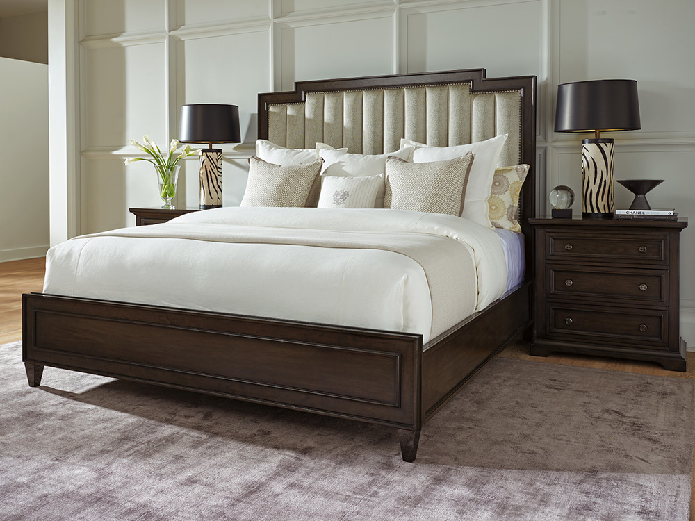 Lexington - Candice Channeled Upholstered Bed