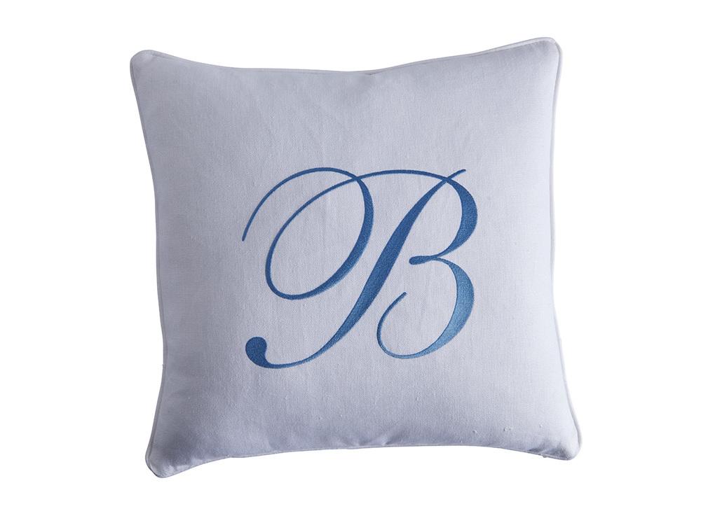 Lexington - Monogram Signature Pillow - White