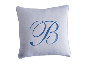 Thumbnail of Lexington - Monogram Signature Pillow - White