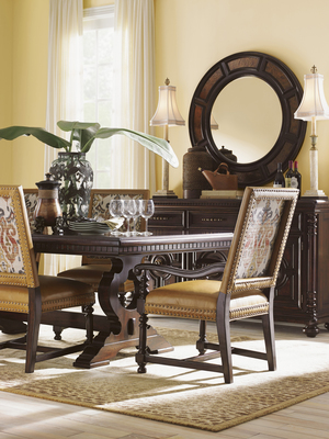 Thumbnail of Lexington - Jacqueline Leather Hostess Dining Chair