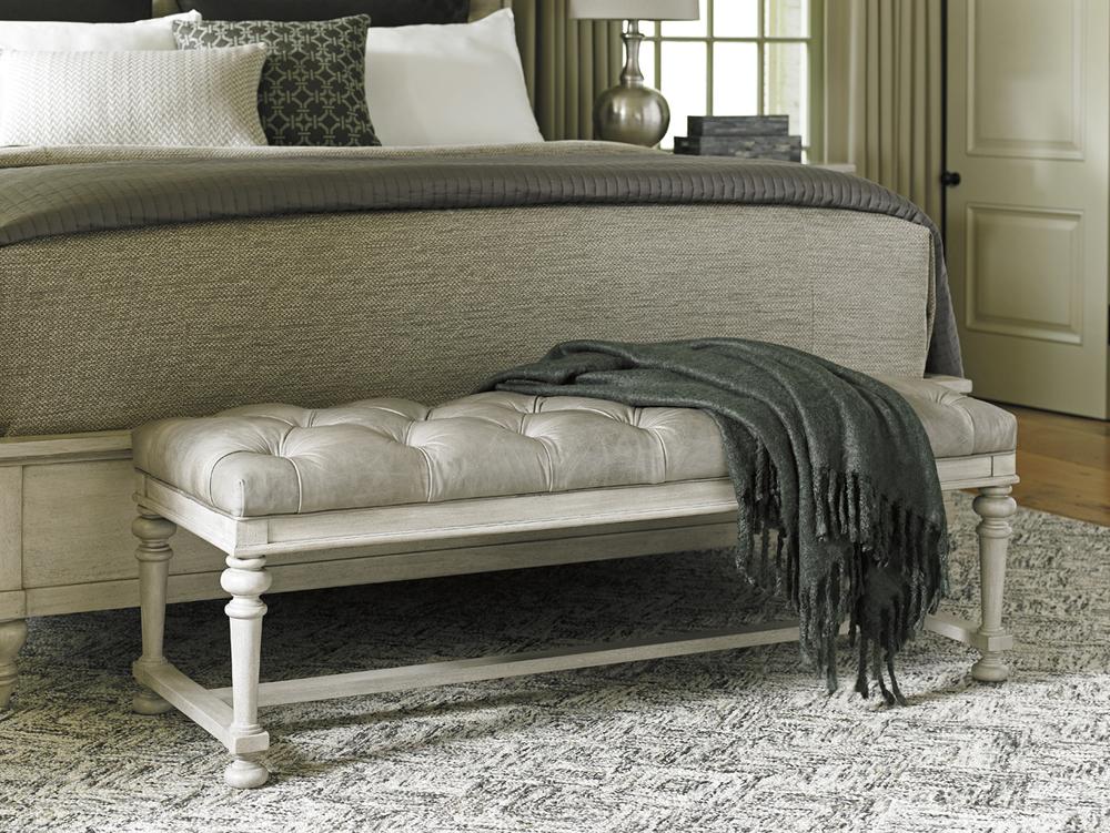 Lexington - Bellport Leather Bed Bench