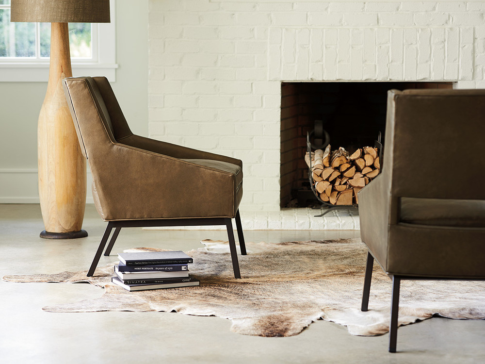 Lexington - Amani Leather Chair With Charcoal Base