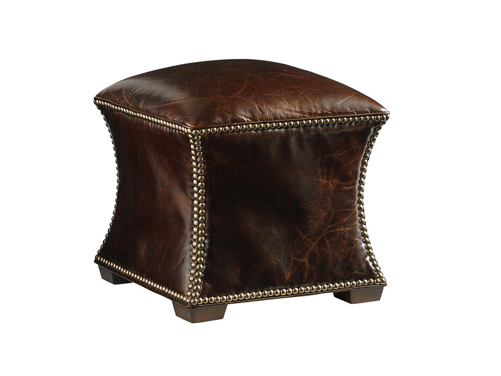 Lexington - Eclipse Leather Ottoman