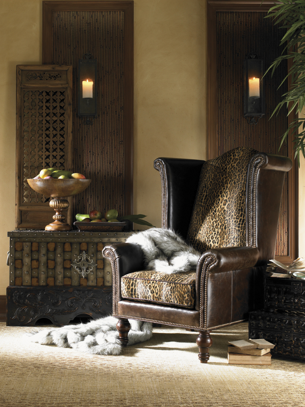 Lexington - Kings Row Leather Wing Chair
