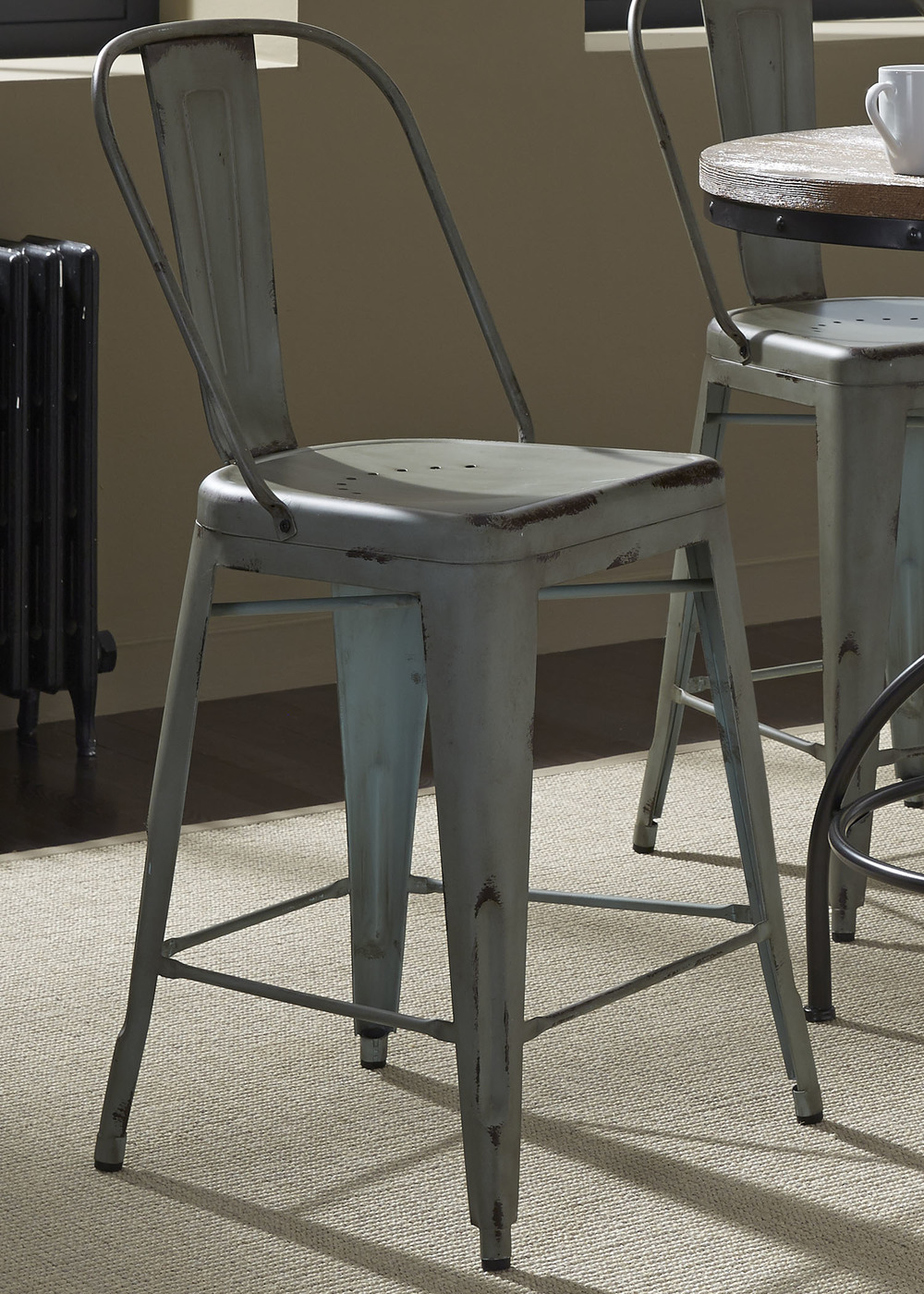 Liberty Furniture - Bow Back Counter Chair - Green