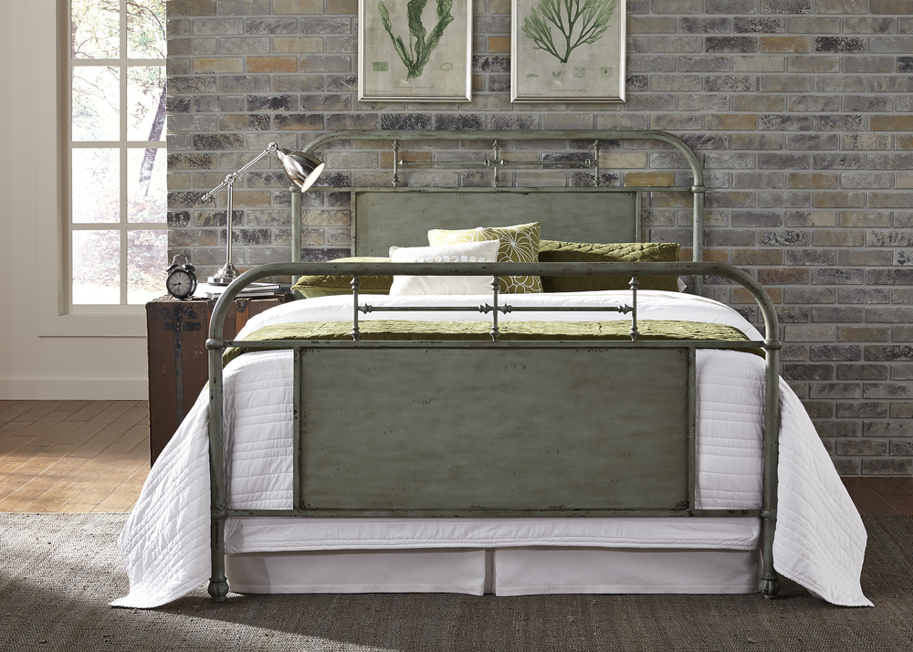 Liberty Furniture - Queen Metal Bed in Green