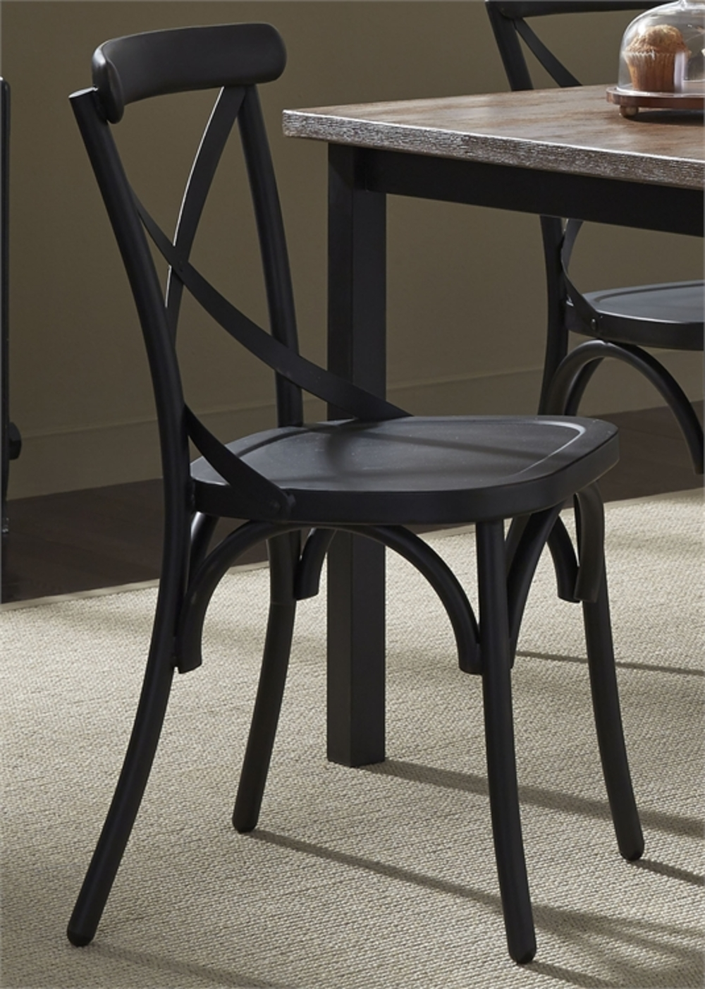 Liberty Furniture - X Back Side Chair - Black
