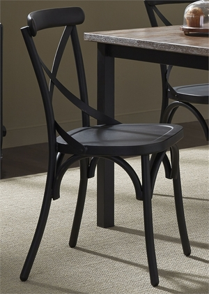 Thumbnail of Liberty Furniture - X Back Side Chair - Black