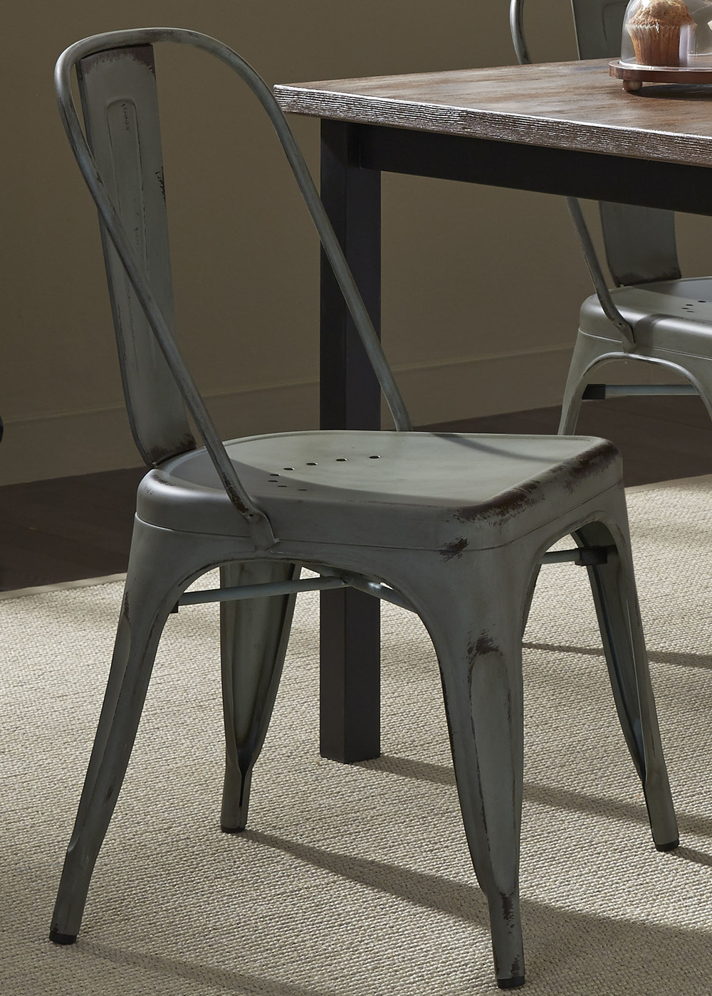 Liberty Furniture - Bow Back Side Chair - Green