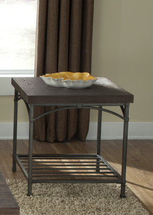 Thumbnail of Liberty Furniture - Rustic Metal End Table w/ Storage Shelf