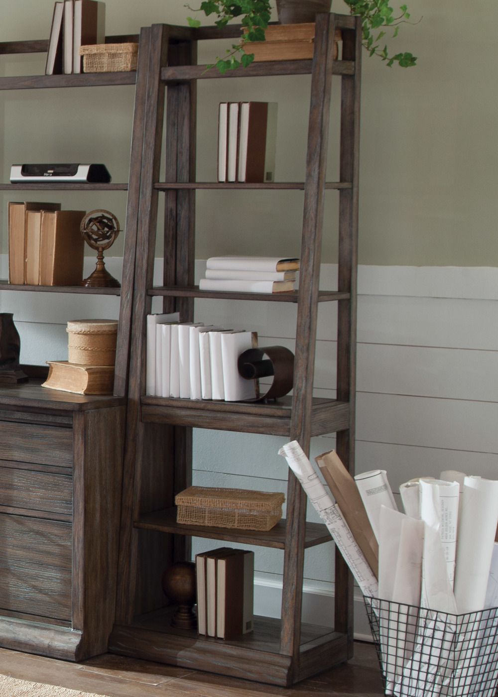 Liberty Furniture - Leaning Bookcase
