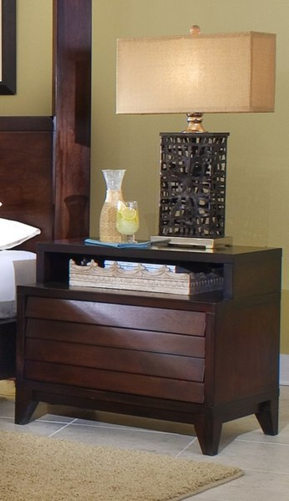 Ligna Furniture - Two Drawer Nightstand