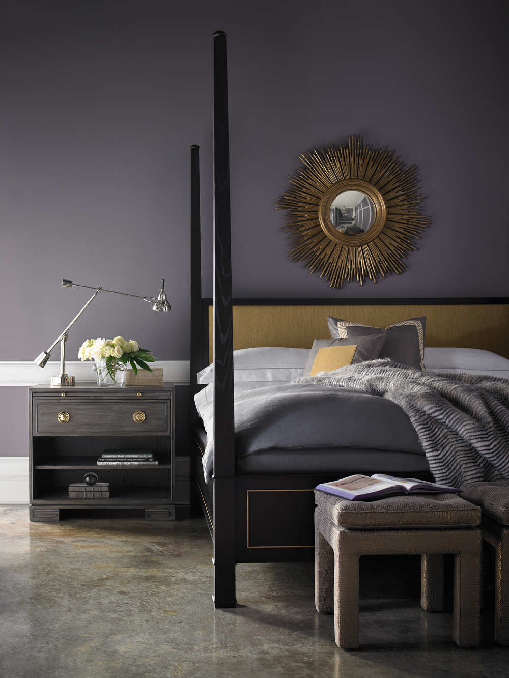 Lillian August Fine Furniture - Andrea King Poster Bed