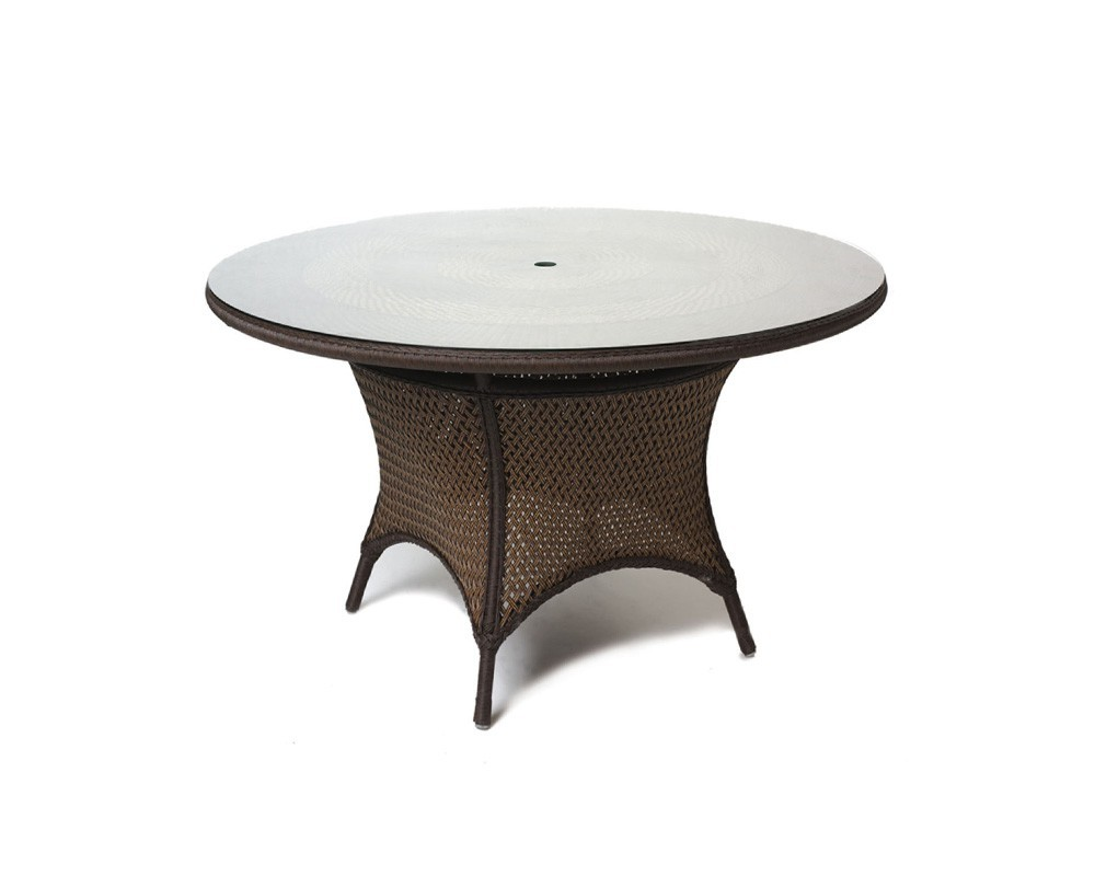 Lloyd Flanders - Round Umbrella Dining Table