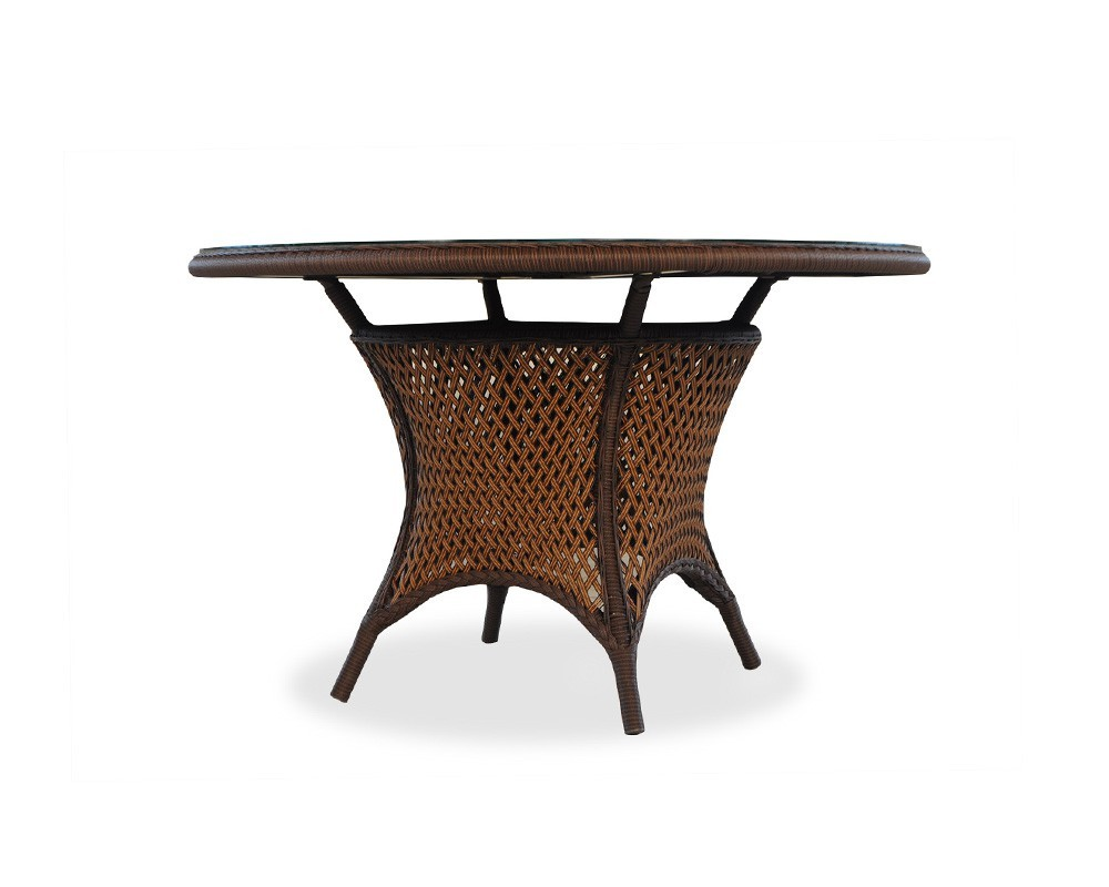 Lloyd Flanders - Round Umbrella Dining Table