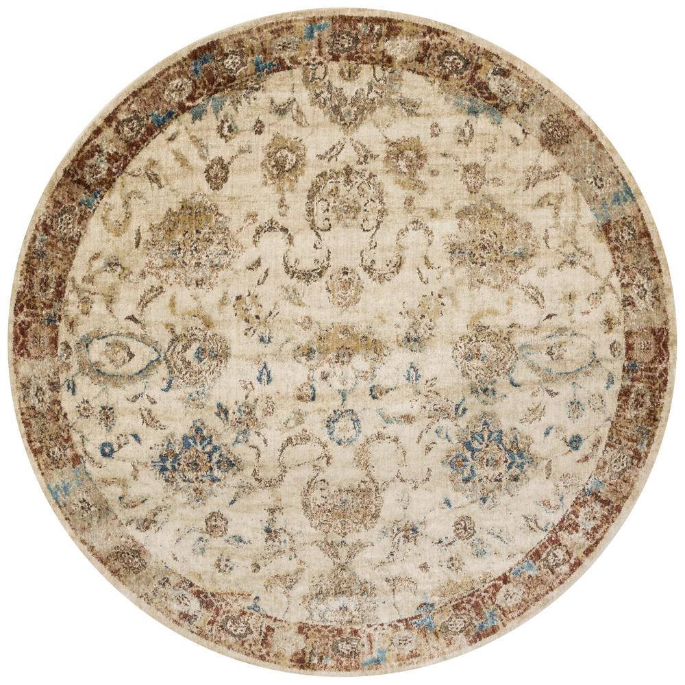 Loloi Rugs - Anastasia Rug (Antique Ivory/Rust)