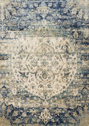 Thumbnail of Loloi Rugs - Anastasia Rug (Blue/Ivory)