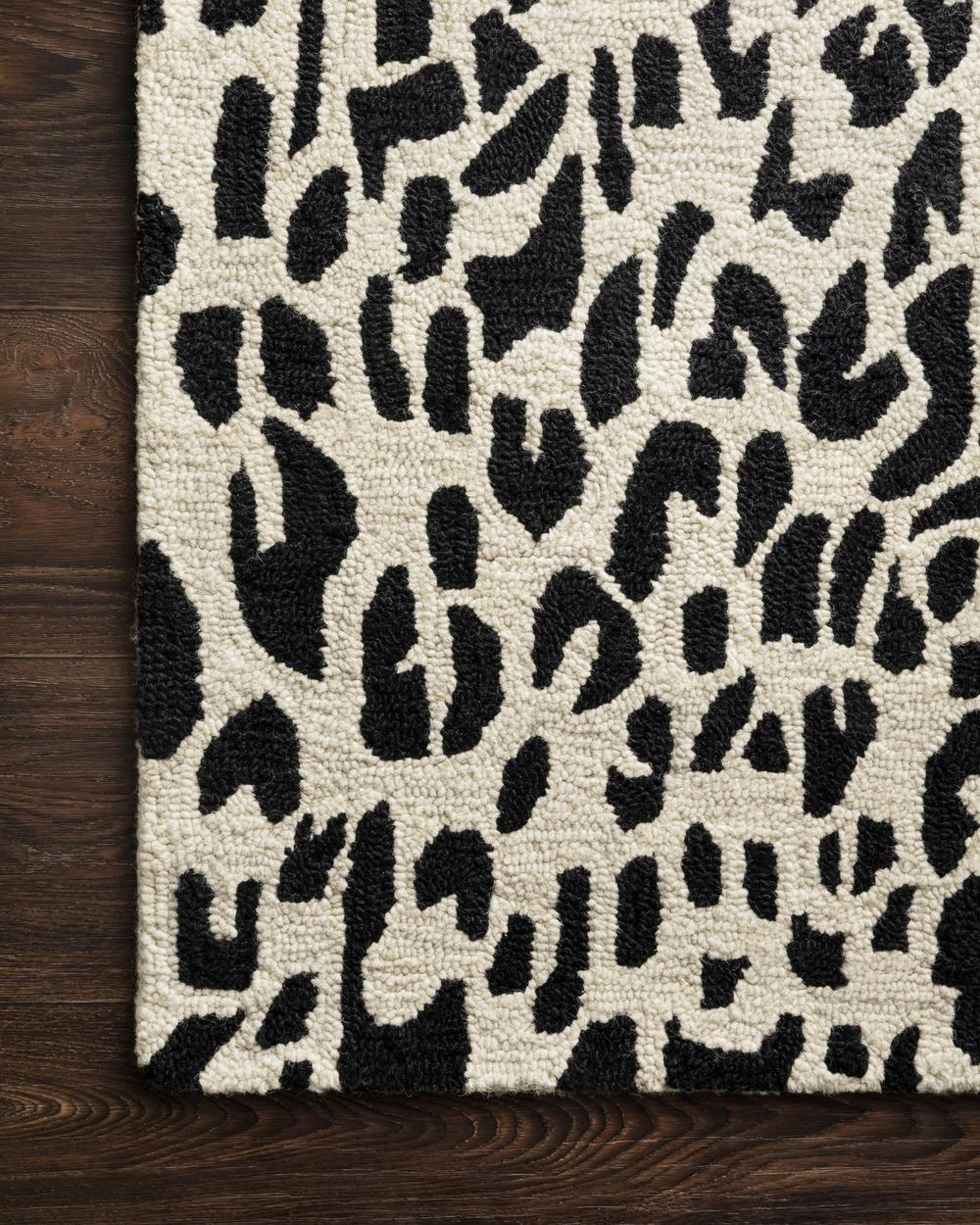 Loloi Rugs - Masai Rug (Black/Ivory)