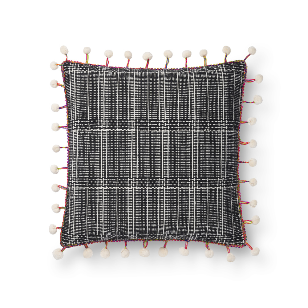 Loloi Rugs - Black and White Pillow