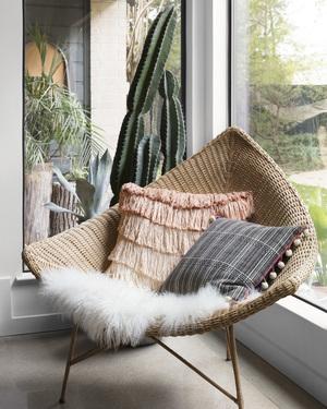 Thumbnail of Loloi Rugs - Black and White Pillow