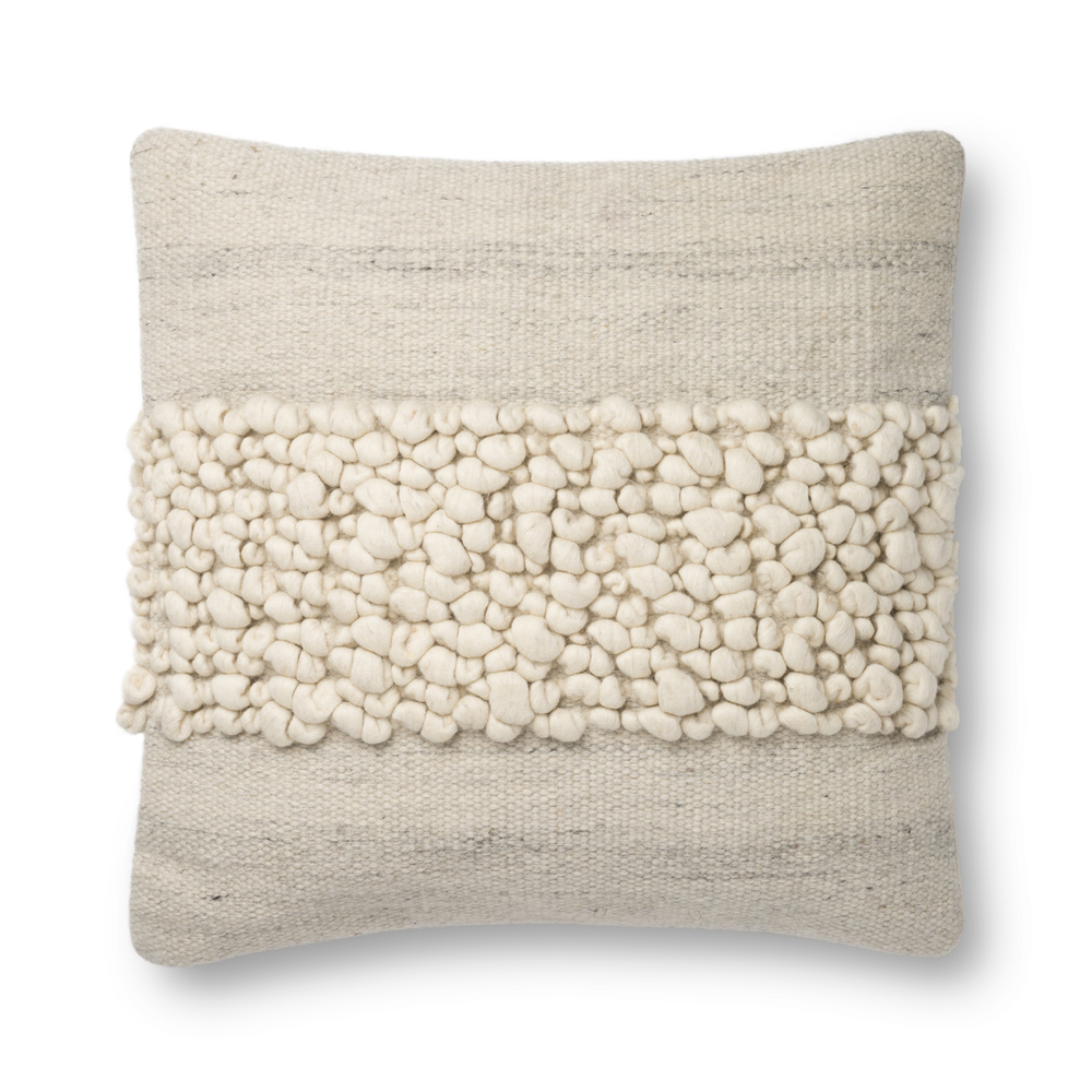 Loloi Rugs - Ivory and Grey Pillow