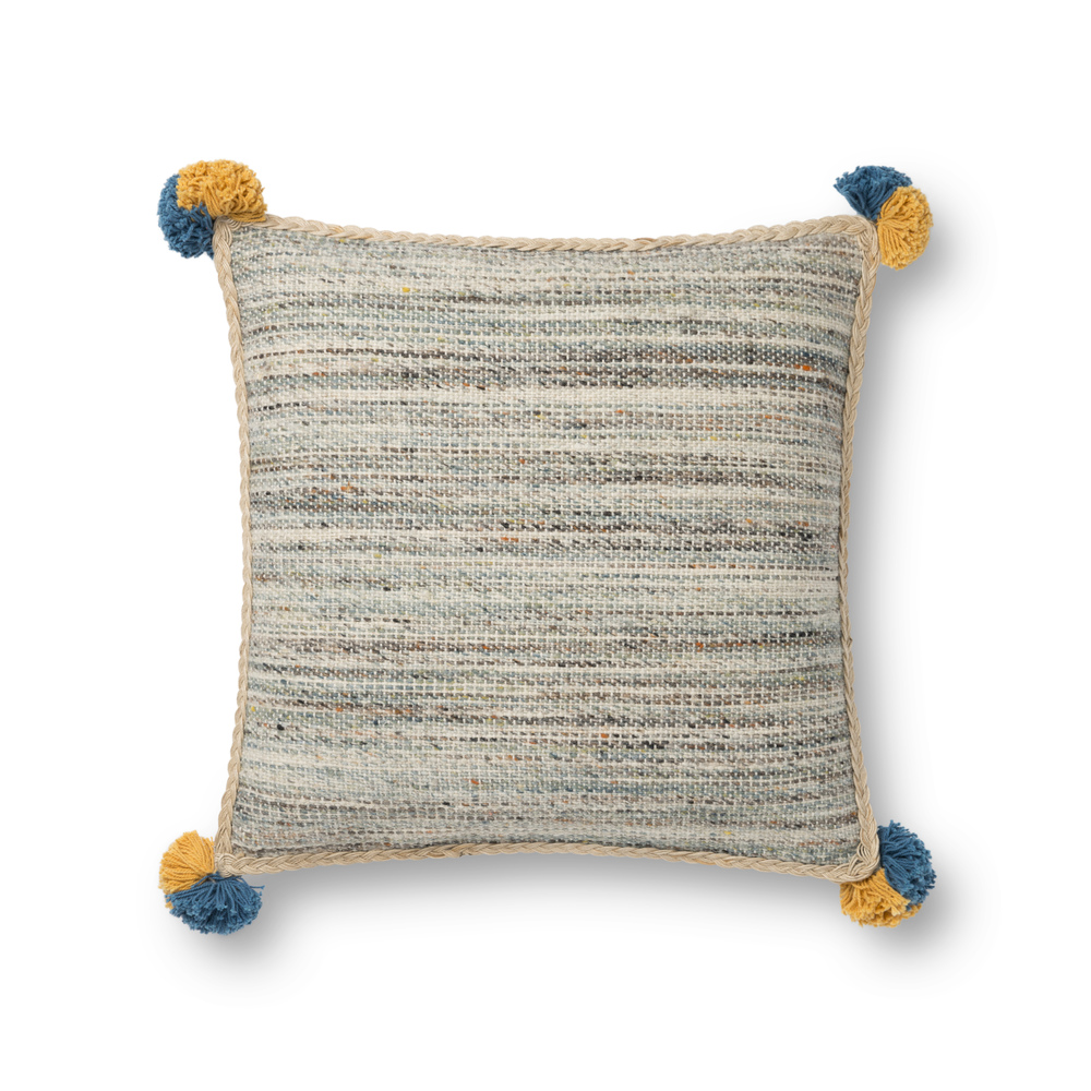 Loloi Rugs - Blue and Multicolor Pillow