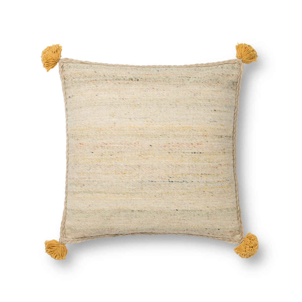 Loloi Rugs - Beige and Multicolor Pillow
