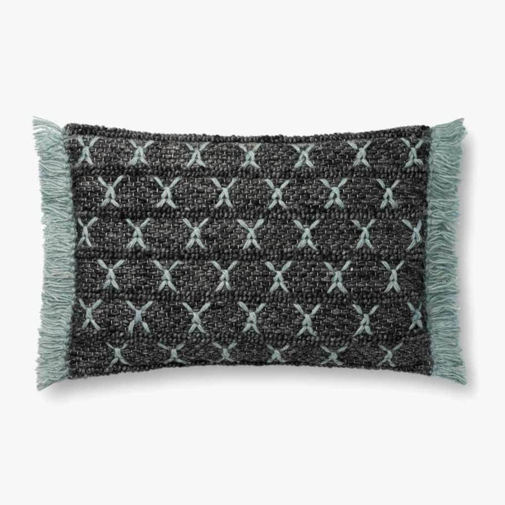 Loloi Rugs - Charcoal and Blue Pillow