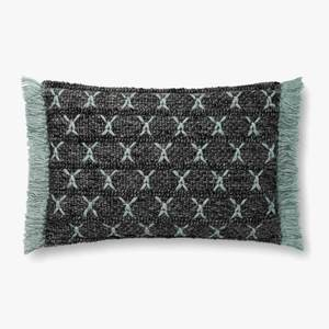 Thumbnail of Loloi Rugs - Charcoal and Blue Pillow