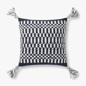 Thumbnail of Loloi Rugs - Navy and Ivory Pillow