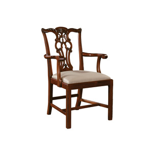 Thumbnail of Maitland-Smith - Carved Regency Mahogany Chippendale Straight Leg Arm Chair