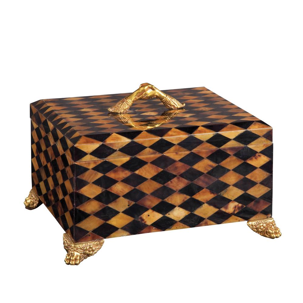 Maitland-Smith - Light and Dark Harlequin Penshell Box
