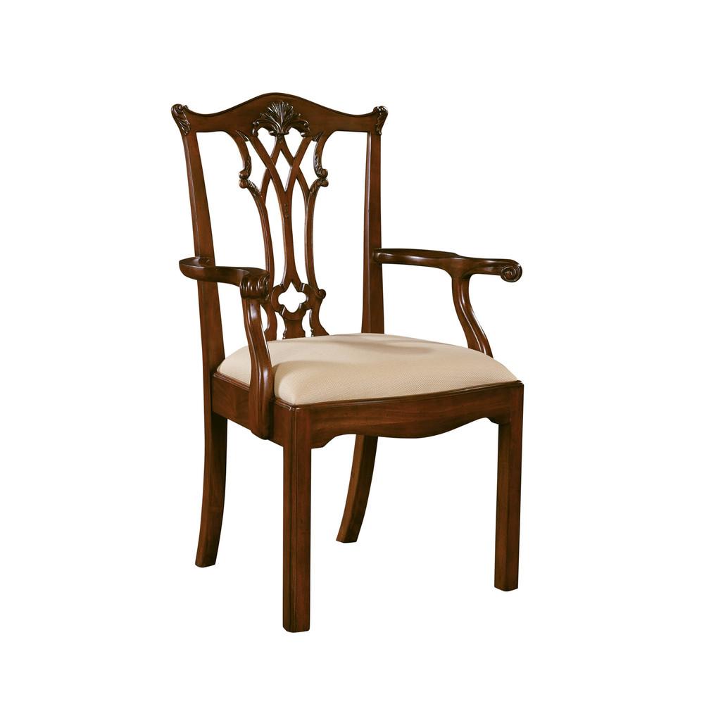 Maitland-Smith - Chippendale Straight Leg Arm Chair