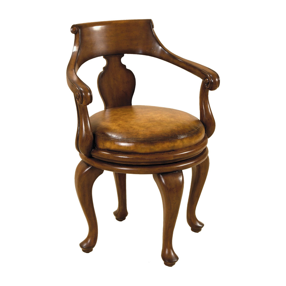 Maitland-Smith - Warm Walnut Swivel Game Chair