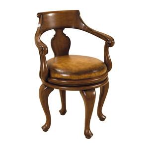 Thumbnail of Maitland-Smith - Warm Walnut Swivel Game Chair