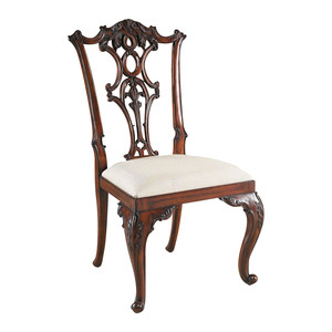 Thumbnail of Maitland-Smith - Carved Aged Regency Mahogany Chippendale Side Chair