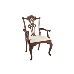 Thumbnail of Maitland-Smith - Carved Aged Regency Mahogany Chippendale Arm Chair