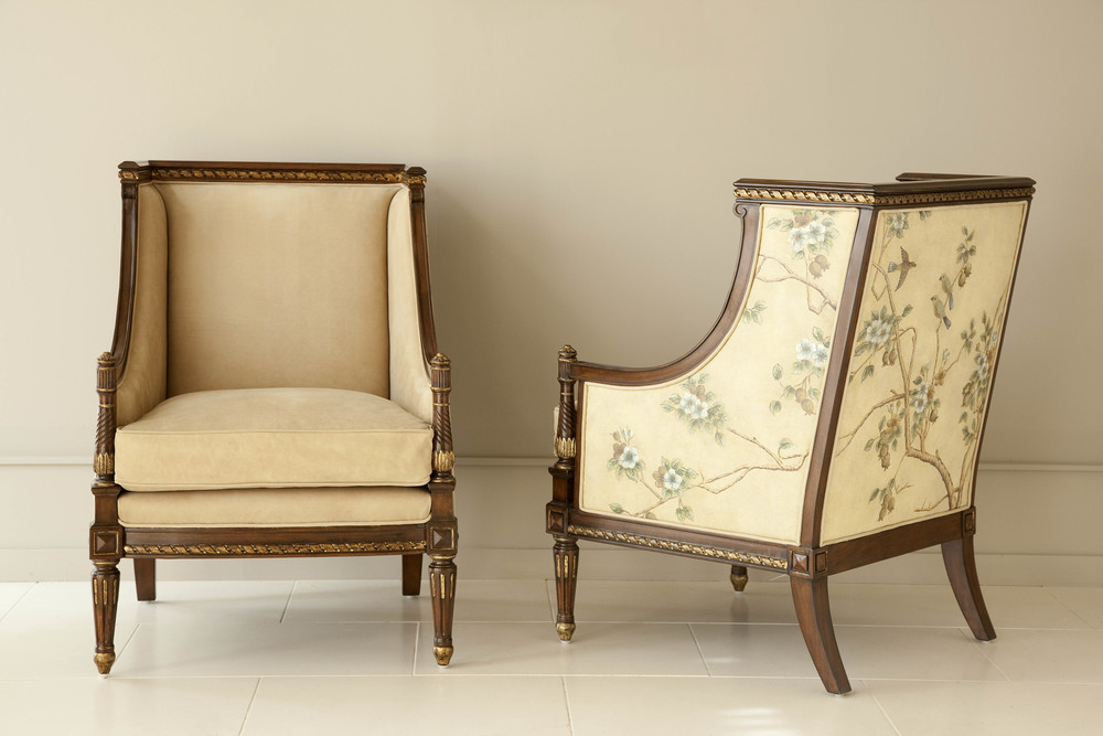 Maitland-Smith - Hand Painted Occasional Chair with Floral Motif