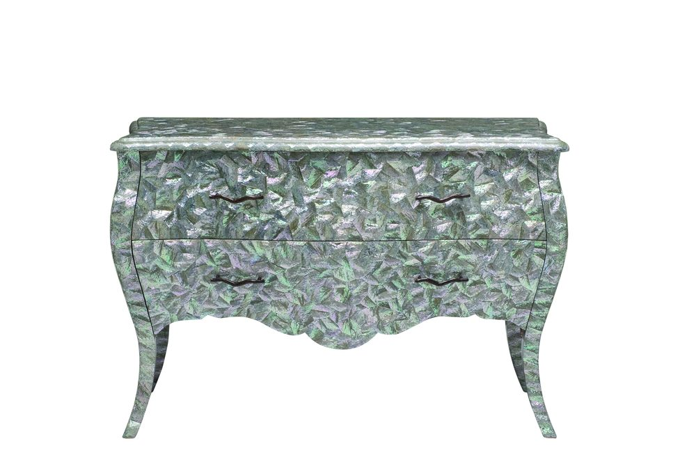 Maitland-Smith - Blue Abalone Shell Inlaid Margarite Chest of Drawers