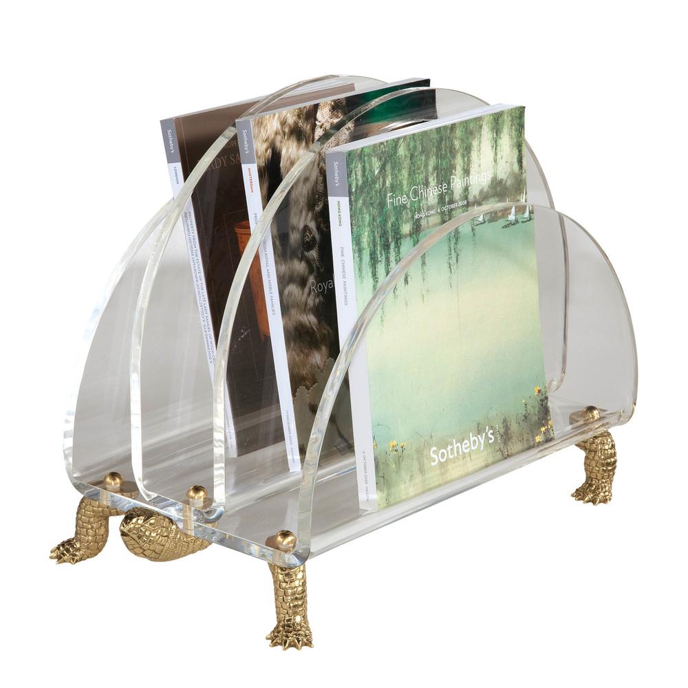 Maitland-Smith - Clear Acrylic Magazine Rack