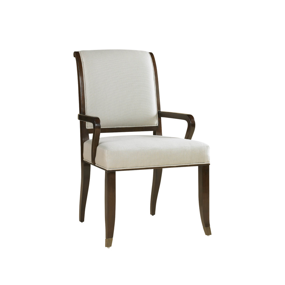 Maitland-Smith - Dark Walnut Arm Chair