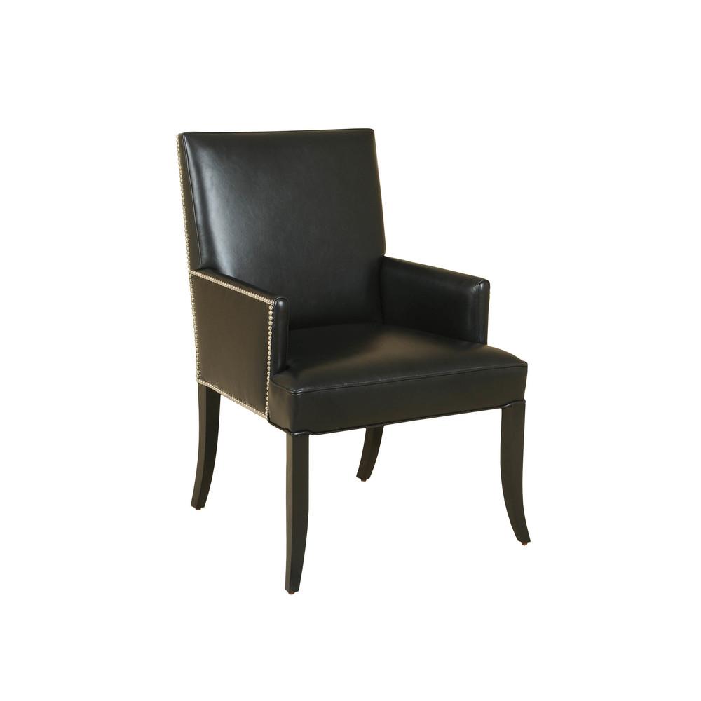 Maitland-Smith - Black Lacquer Arm Chair