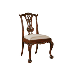 Thumbnail of Maitland-Smith - Carved Polished Mahogany Chippendale Side Chair