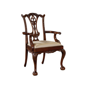 Thumbnail of Maitland-Smith - Carved Polished Mahogany Chippendale Arm Chair