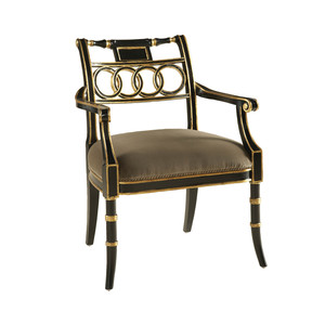 Thumbnail of Maitland-Smith - Rubbed Black Lacquer Arm Chair