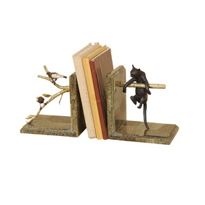 Thumbnail of Maitland-Smith - Pair of Bookends with Cat and Bird Motif