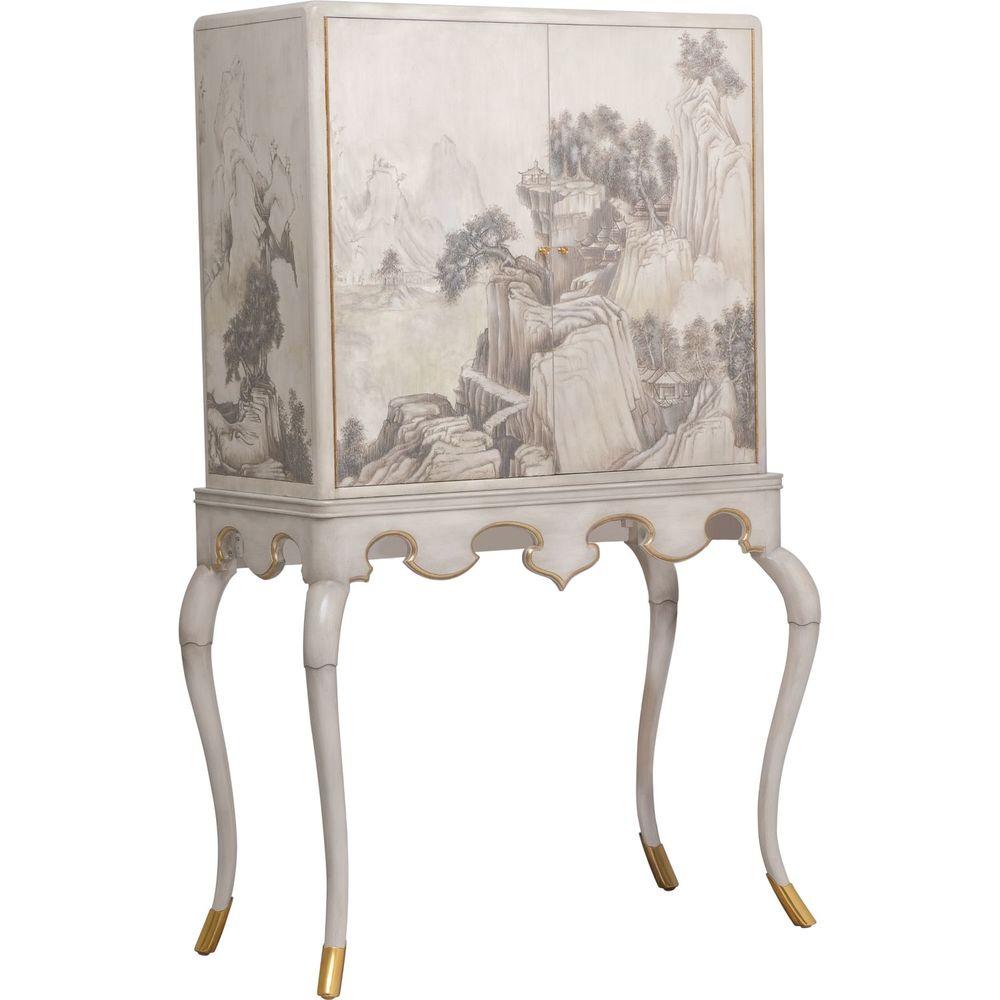 Maitland-Smith - Lacca Veneziana Bar Cabinet